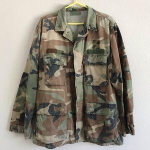 Military Jacket camouflage size large